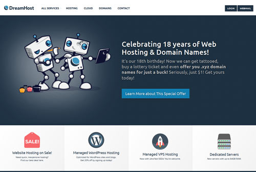 DreamHost WordPress Recommended Hosting