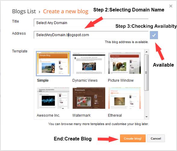 Steps to create Blog
