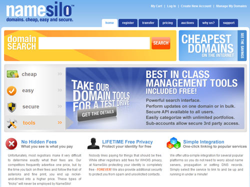 NameSilo Cheap Domain Registrar