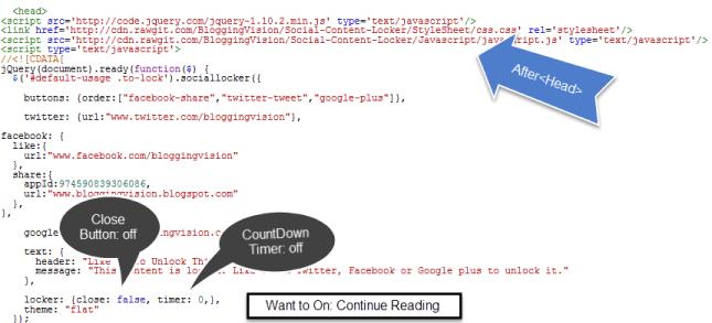 Social Content Locker Javascript and CSS