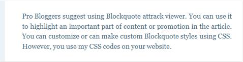 blogger blockquote example 2