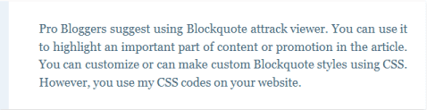 blogger blockquote example 2