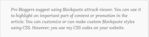 example 7 blockquote css