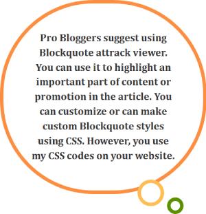 13 example blockquote style css