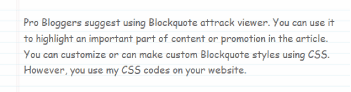 example 10 of blockquote css
