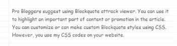 example 10 of blockquote css