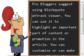 example 12 of blogger blockquote style