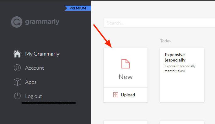 Grammarly dashboard image