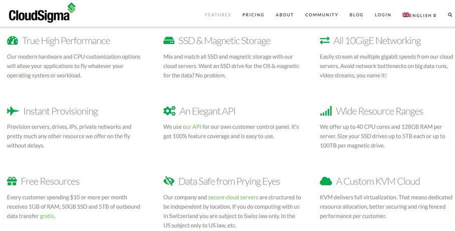 cloudsigma best cloud hosting for developers